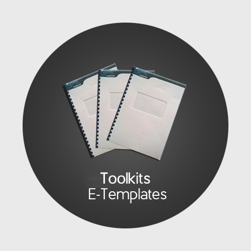 Implementation Toolkits with e-templates